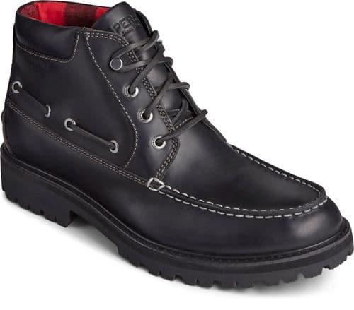 Sperry Authentic Original Lug Chukka Mens Boots Black